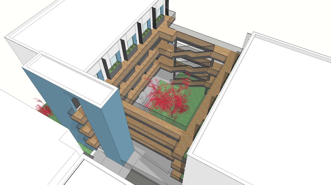 B   courtyard